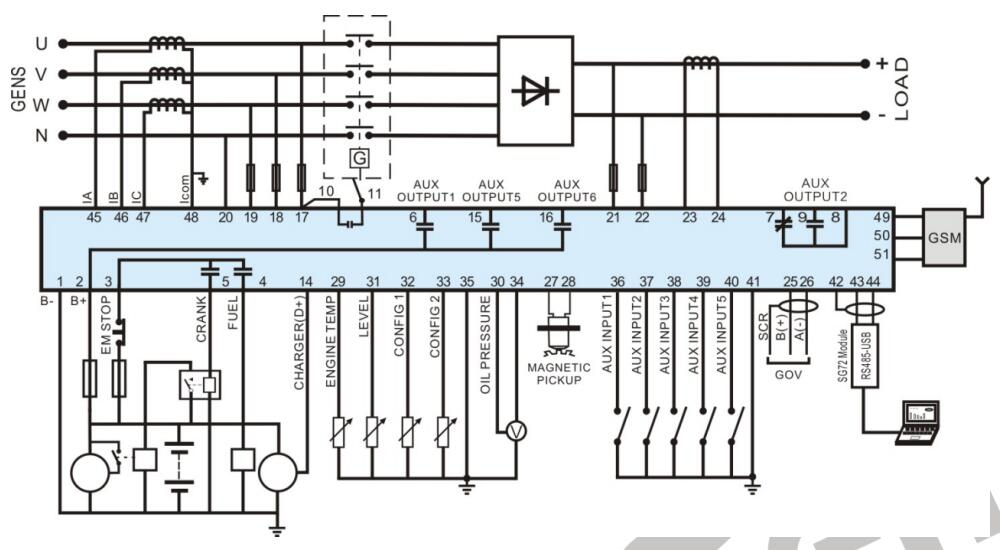 HGM7110VS hgm7110vsdc genset control, ac acquisition smartgen,genset smartgen controller wiring diagram at gsmportal.co