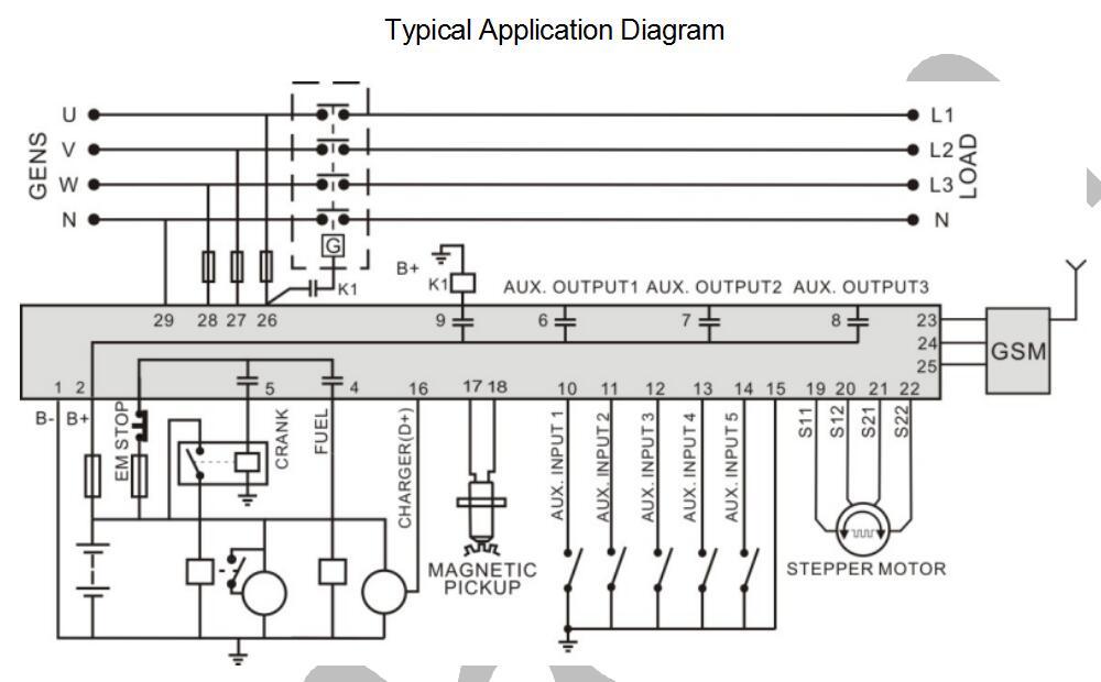 HSC940 hsc940small size, gas genset control smartgen,genset controller smartgen controller wiring diagram at gsmportal.co
